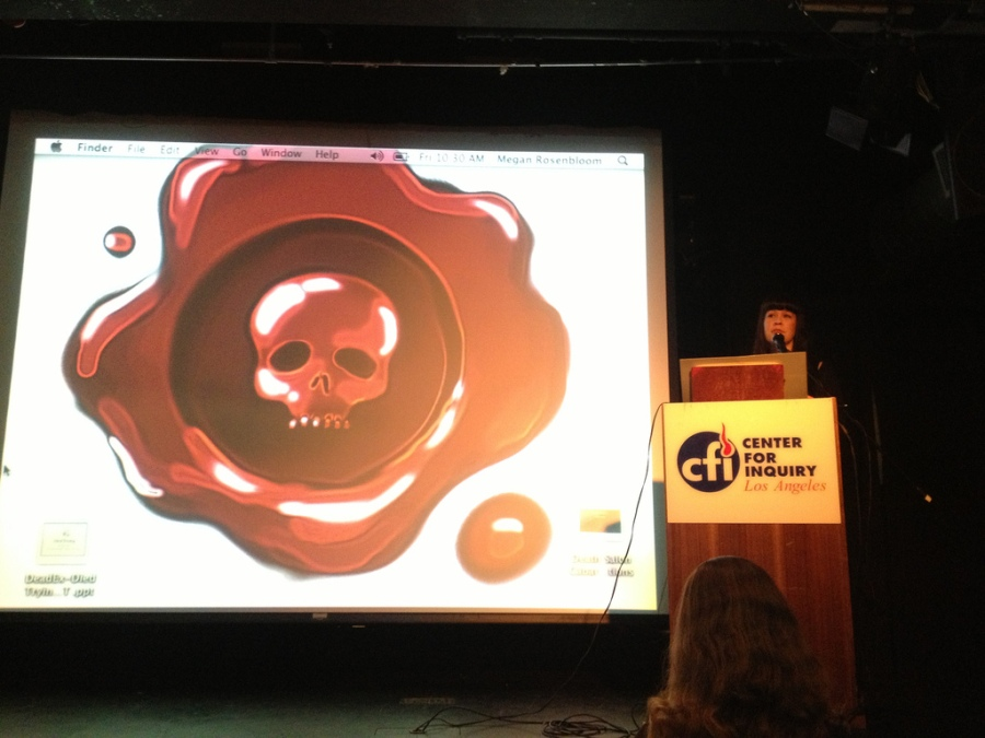 Caitlin Doughty at Morbid Anatomy Day at Death Salon LA October 19, 2013. Photo by Annetta Black