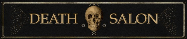 Death Salon official banner logo, designed by Jenelle Campbell of andshedesigns.net