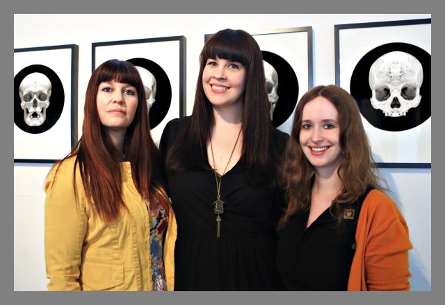 Death Salon Social Media Editor Sarah Troop, Co-Founder Caitlin Doughty, Co-Founder & Director Megan Rosenbloom. This photo & background photography by David Orr