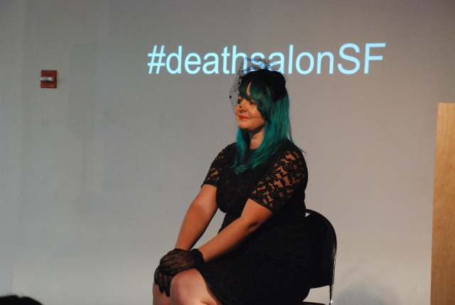 Performance artist Cara Rose DeFabio performing at Death Salon: SF. Photo by Annetta Black